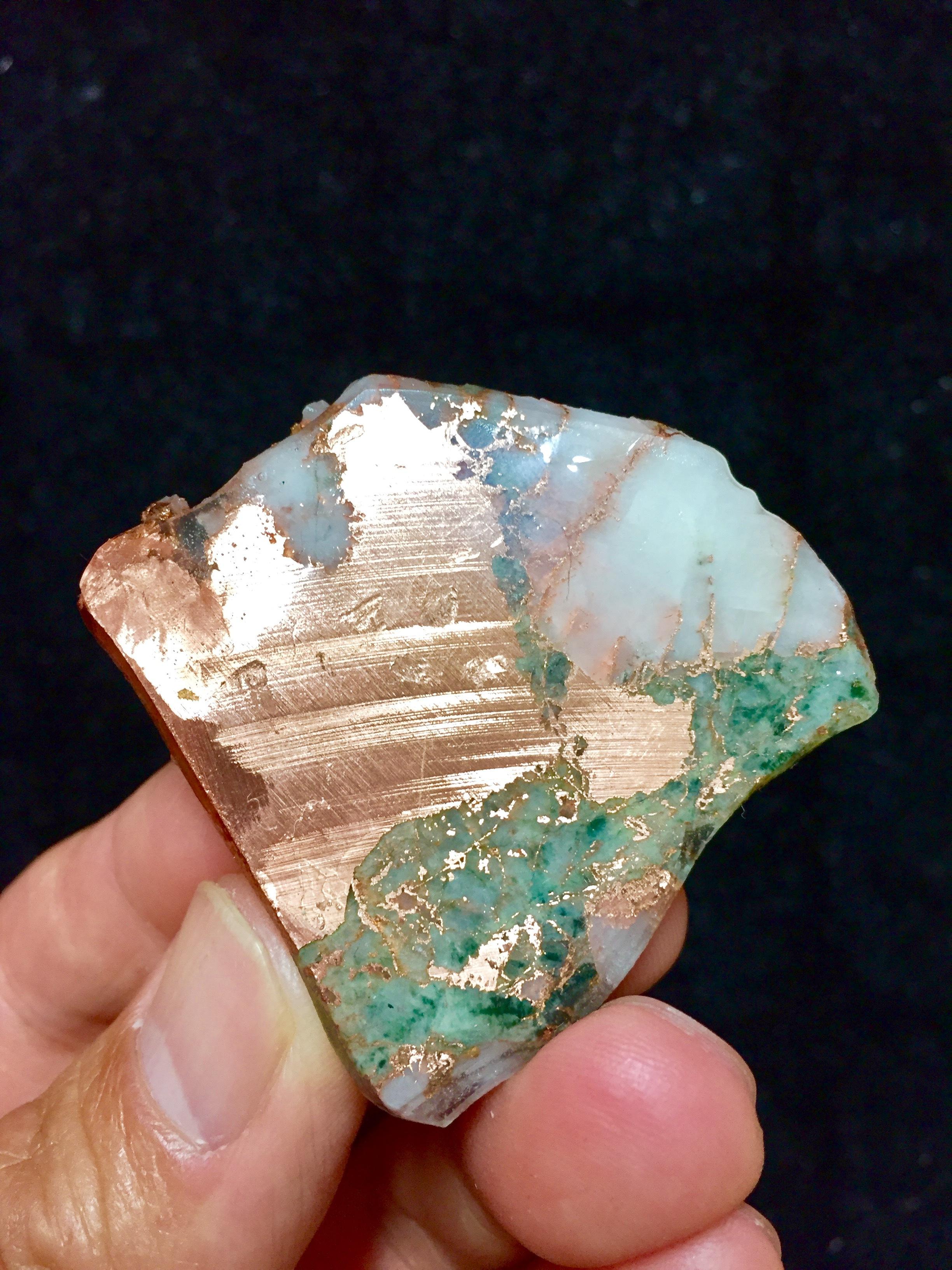 1) ミシガン州産 自然銅