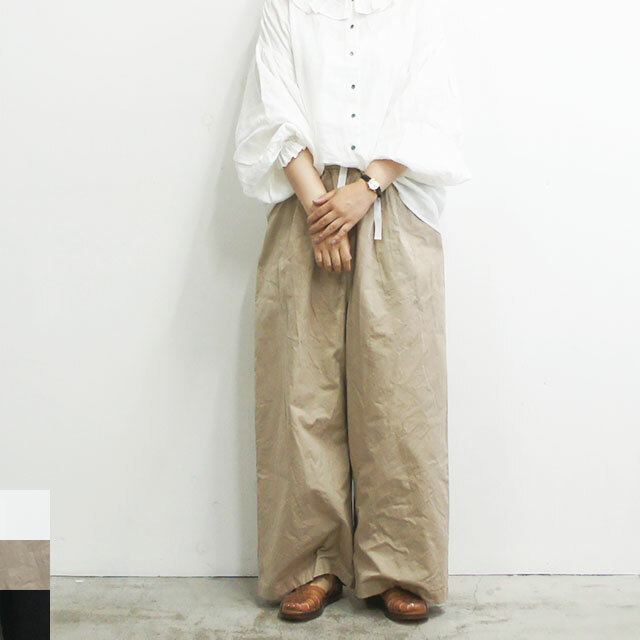 Gauze# ガーゼ ウェザーコットンルーミーロングパンツ レディース パンツ ロング ゆったり 通販 (品番g225)
