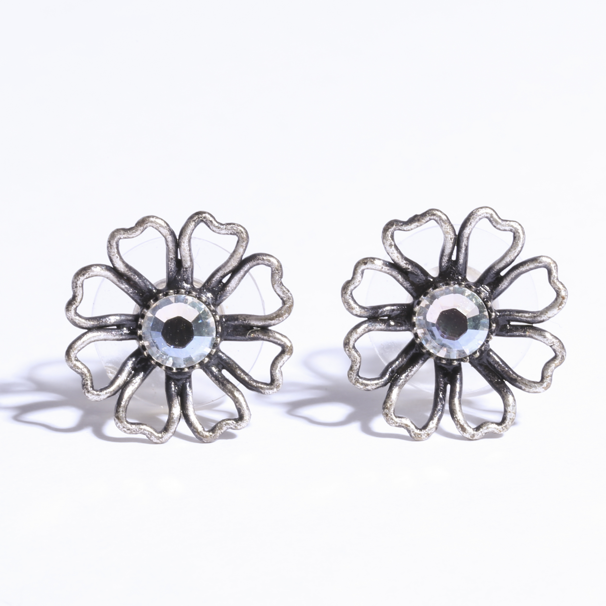 Flower silver Pierce