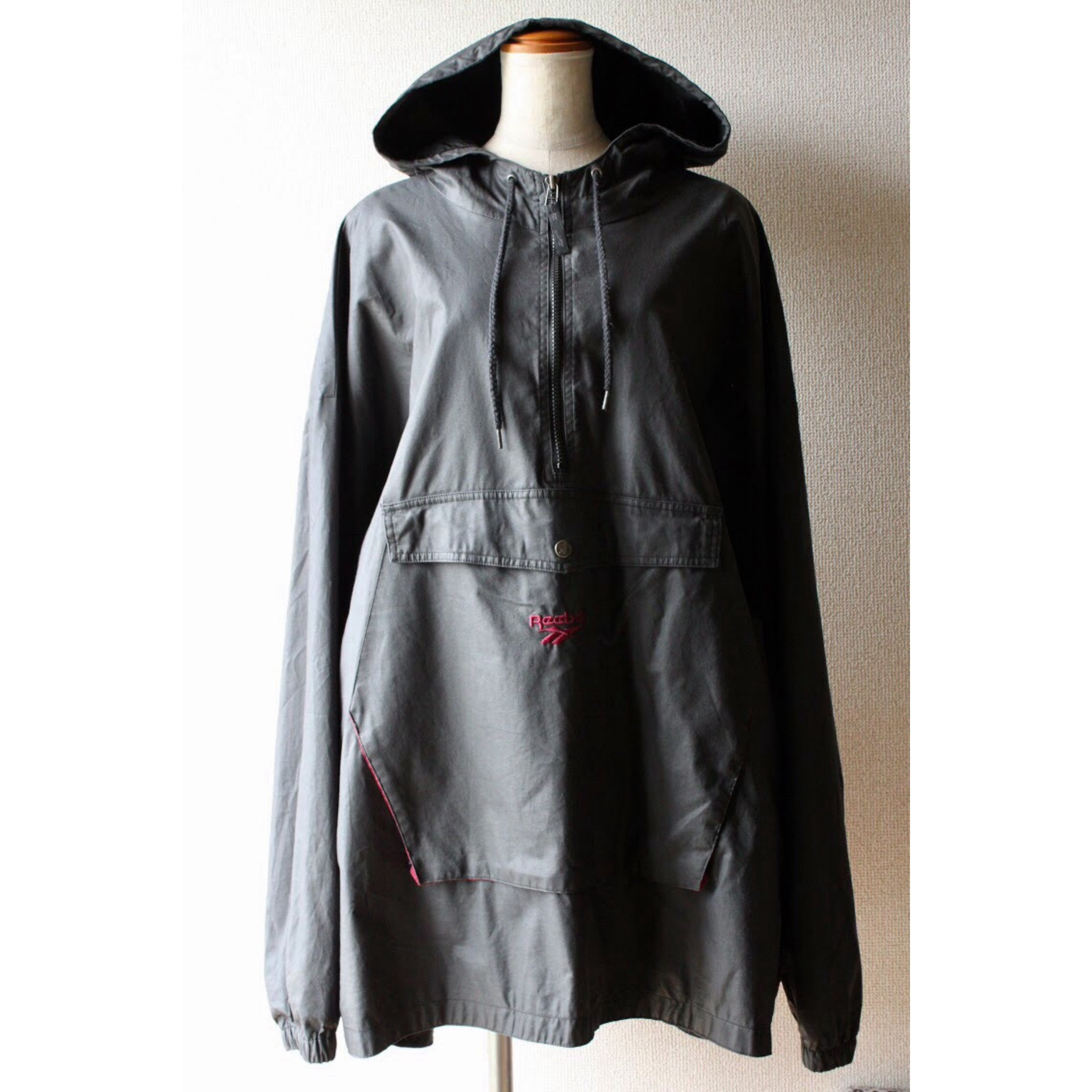 Vintage oversized hooded jacket by Reebok