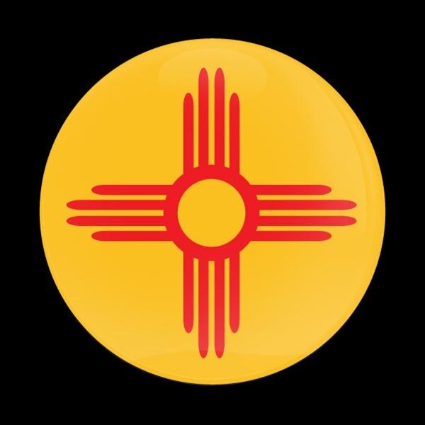 ゴーバッジ(ドーム)(CD0586 - FLAG NEW MEXICO US STATE) - 画像1
