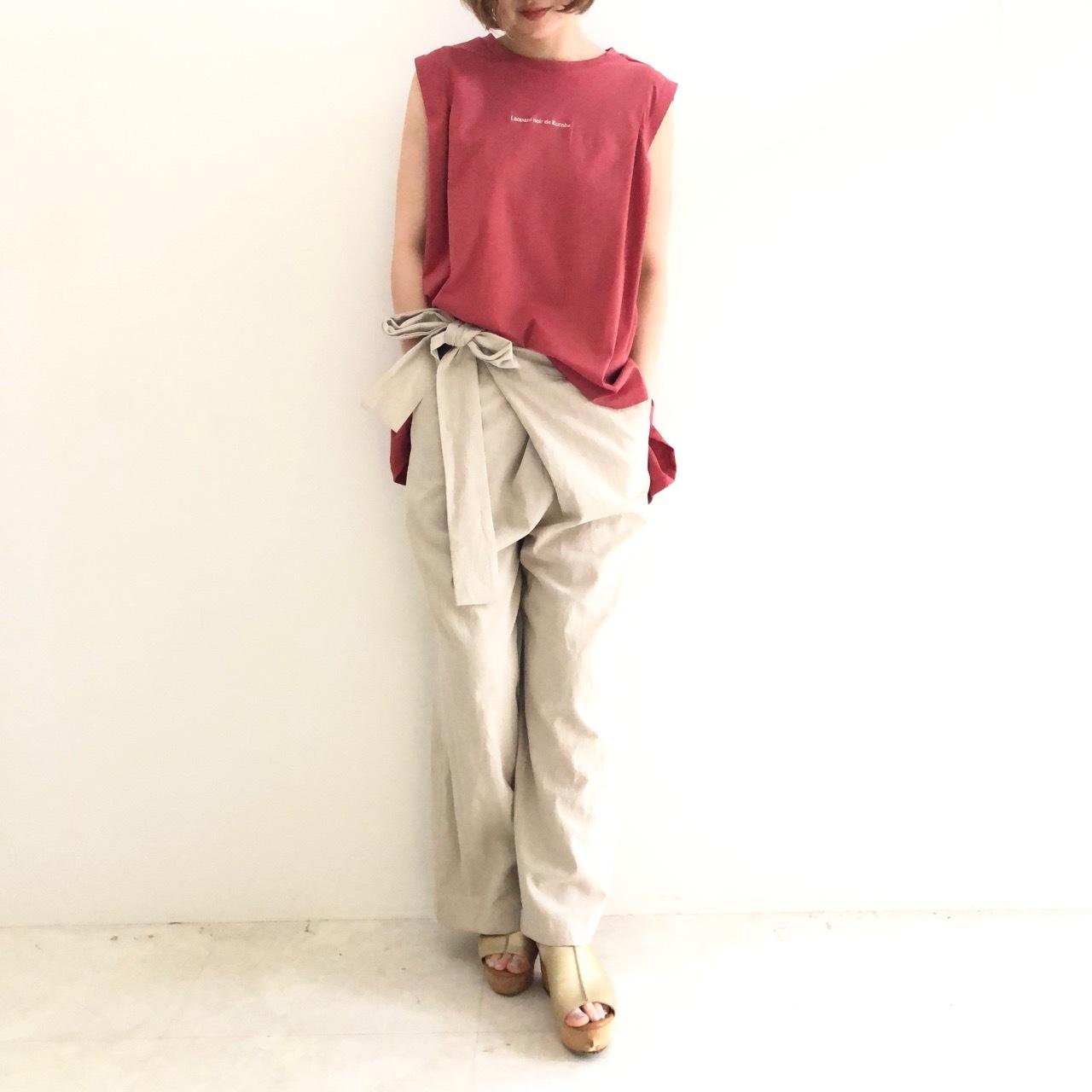 【 QTUME 】- 912-25205 - ノースリーブTeeシャツ
