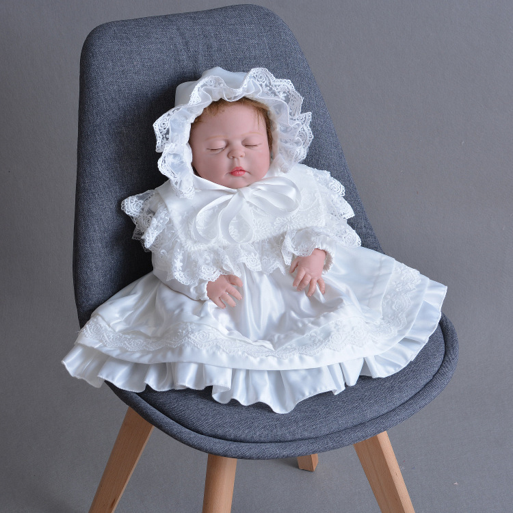 e09fdb5ccd845 ... 御出産祝 送料無料.  セレモニードレス 新生児 長袖 ベビードレス 退院 女の子 女の子ドレス ベビー ドレス 女の子 結婚