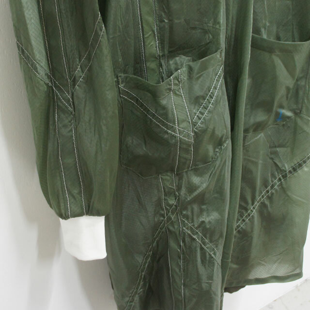 【再入荷なし】 130GARMENT パラシュートジャケット レディース コート ジャケット ロング ミリタリー リメイク USED dead stock デッドストック 通販 (品番a18)