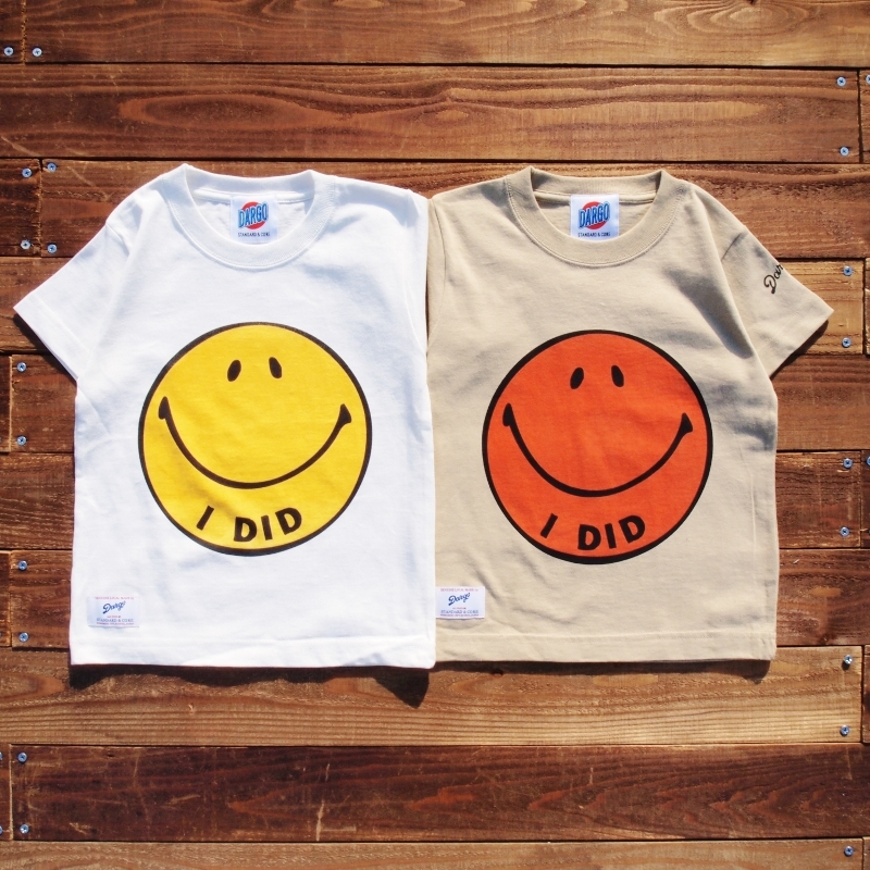 "【DARGO】""I DID"" Smile Face T-shirt (KIDS)"