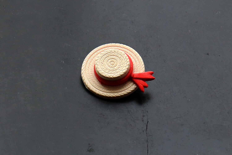 【フランス】麦わら帽子のブローチ