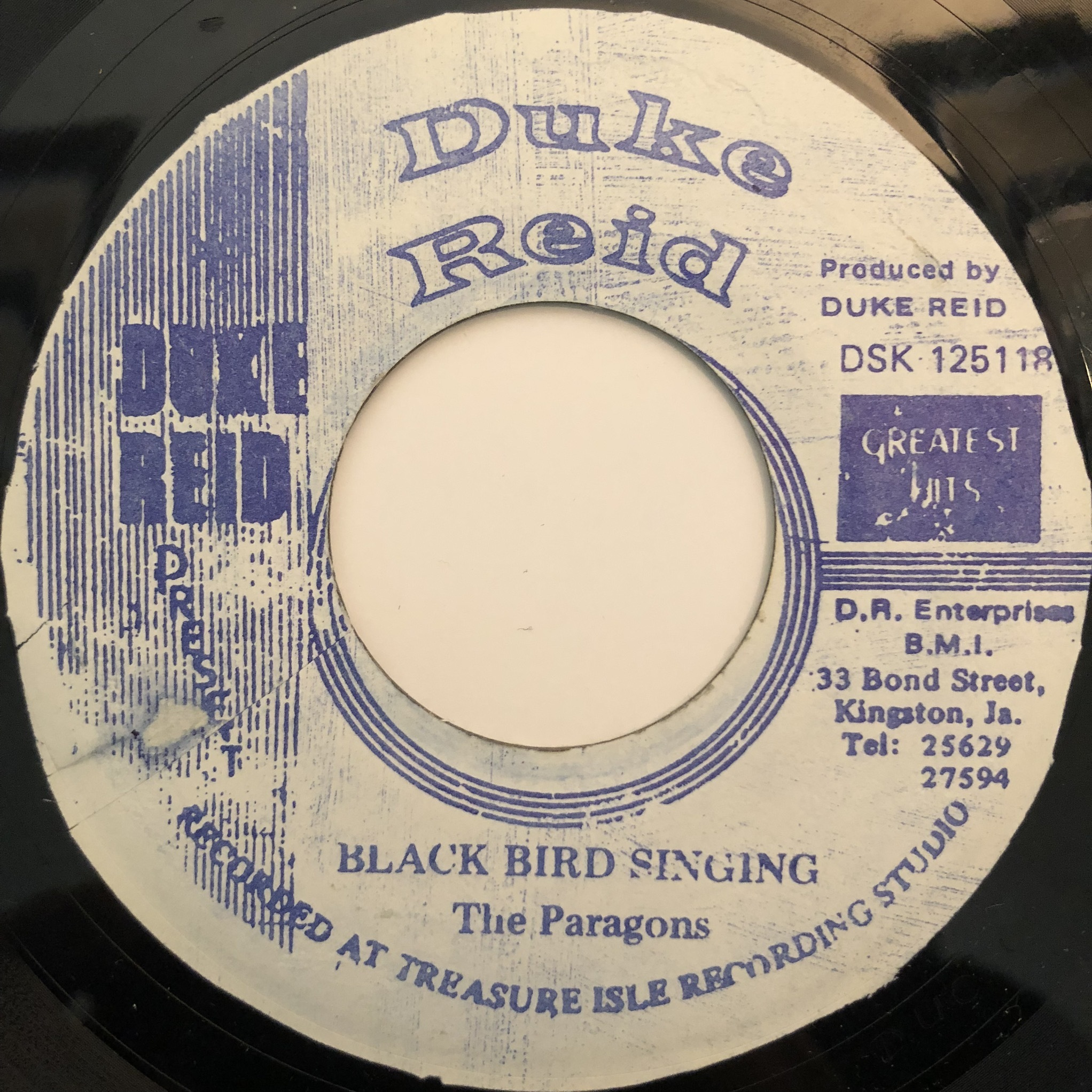 The Paragons - Black Bird Singing【7-20340】