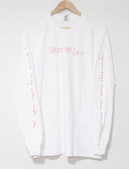 【SAVES THE DAY】Lyrics Long Sleeve (White)