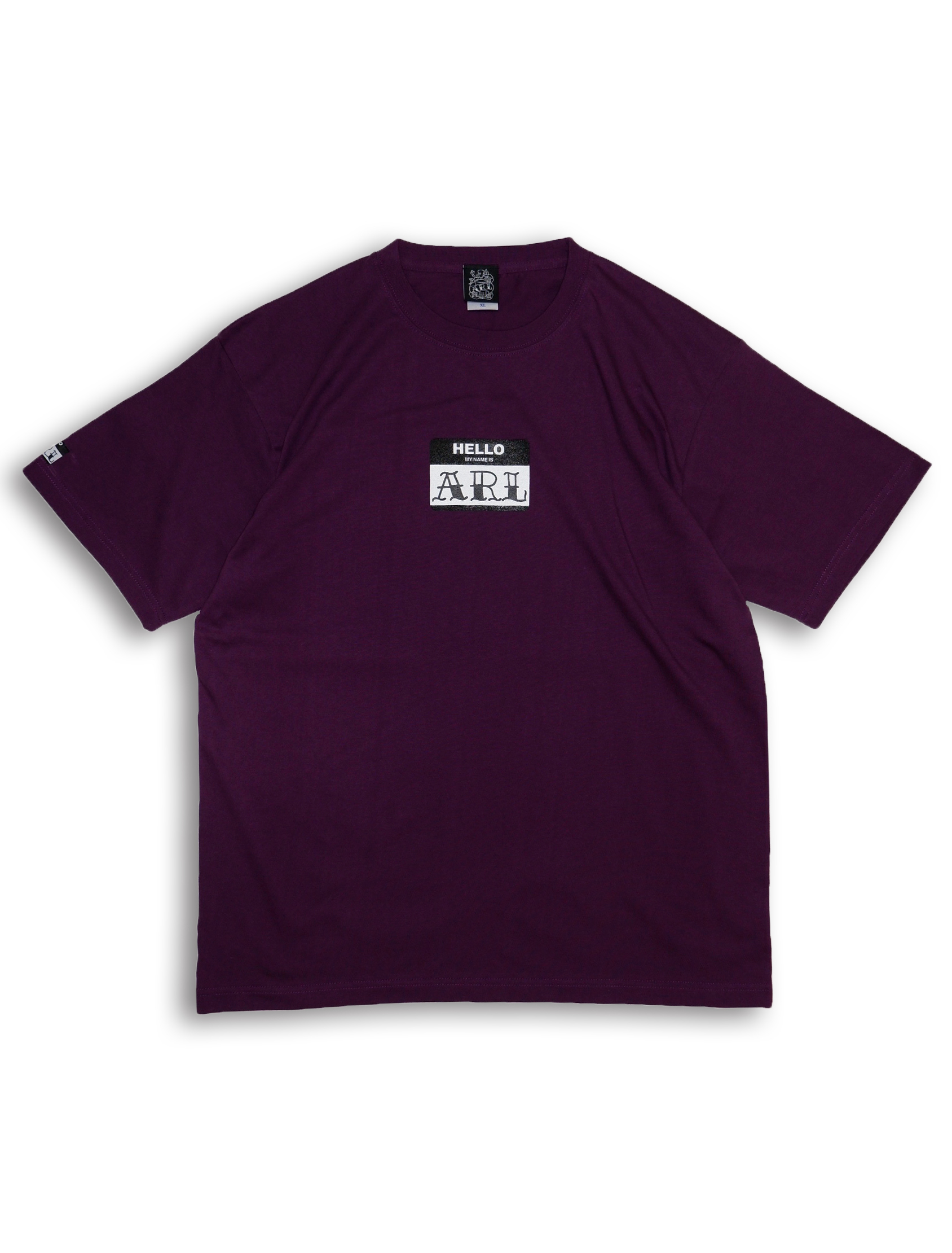 LOGO STICKER TEE purple