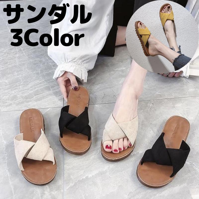 サンダル多色合わせやすい夏ファッションシューズ
