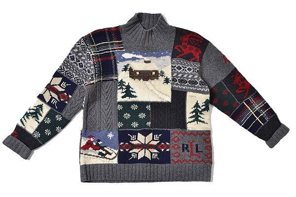 LAUREN Ralph Lauren sizeS handknit vintage/polo putchwork
