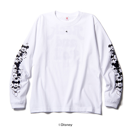 MICKEY MOUSE ROCK AND ROLL LONG SLEEVE T ミッキーマウス ロックンロール ロングスリーブT / rockin'star ( ロッキンスター )