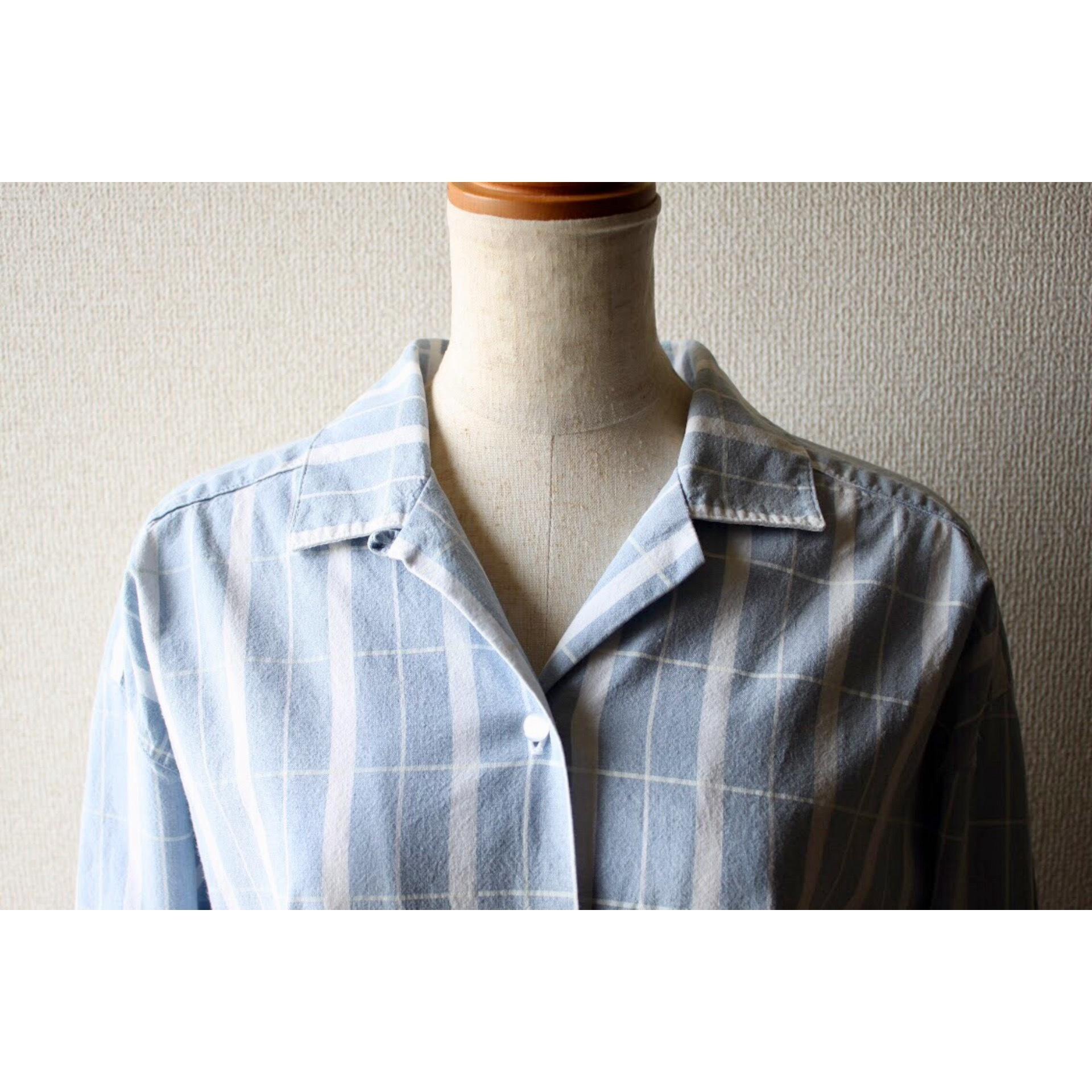 Vintage sax blue check shirt