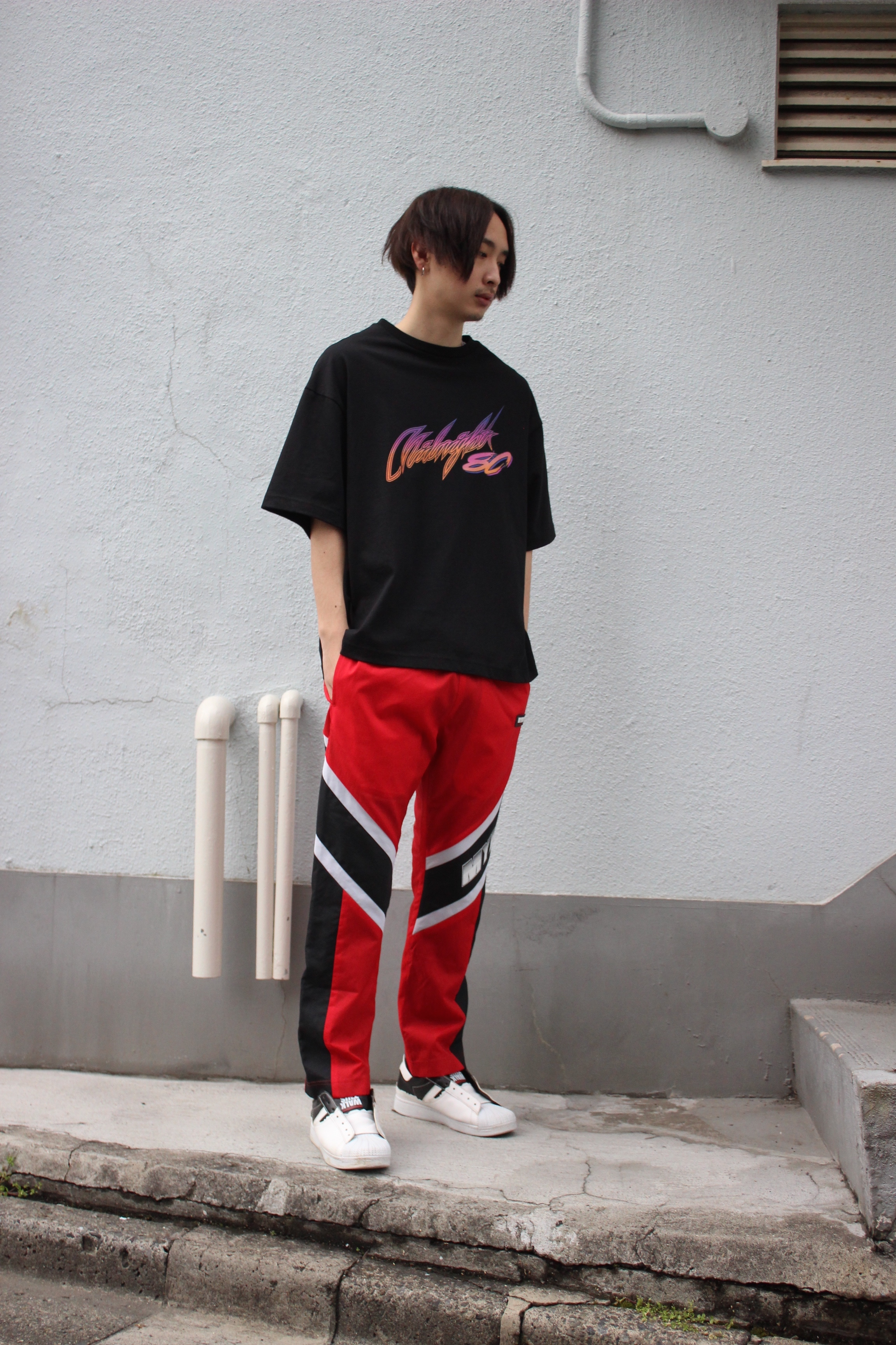 MYNE MOTORS nylon pants / RED - 画像3