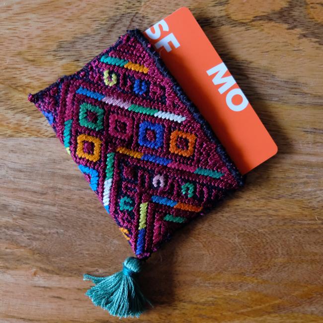 &JOURNEY original ナワラ織りのパスケース /293b/ GUATEMALA グアテマラ
