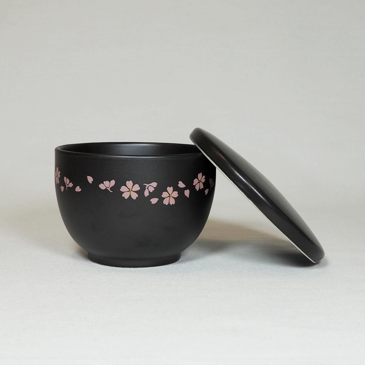 セラミック一膳 おひつ(花ちらし ピンク) 50-001-E