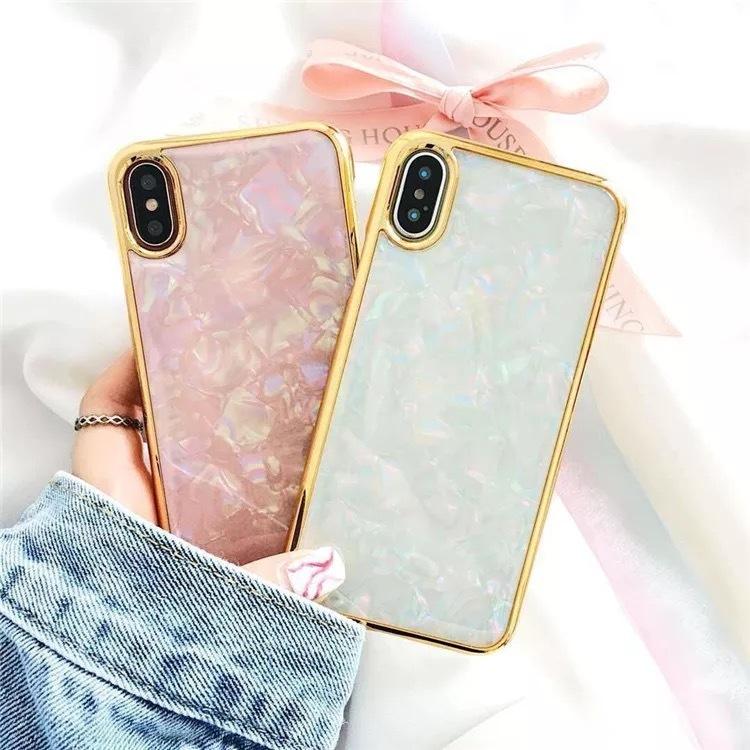 d93d94de91 即納 送料無料>ゴールド縁ライン キラキラシェル柄 ハードケース iPhoneケース iPhone6