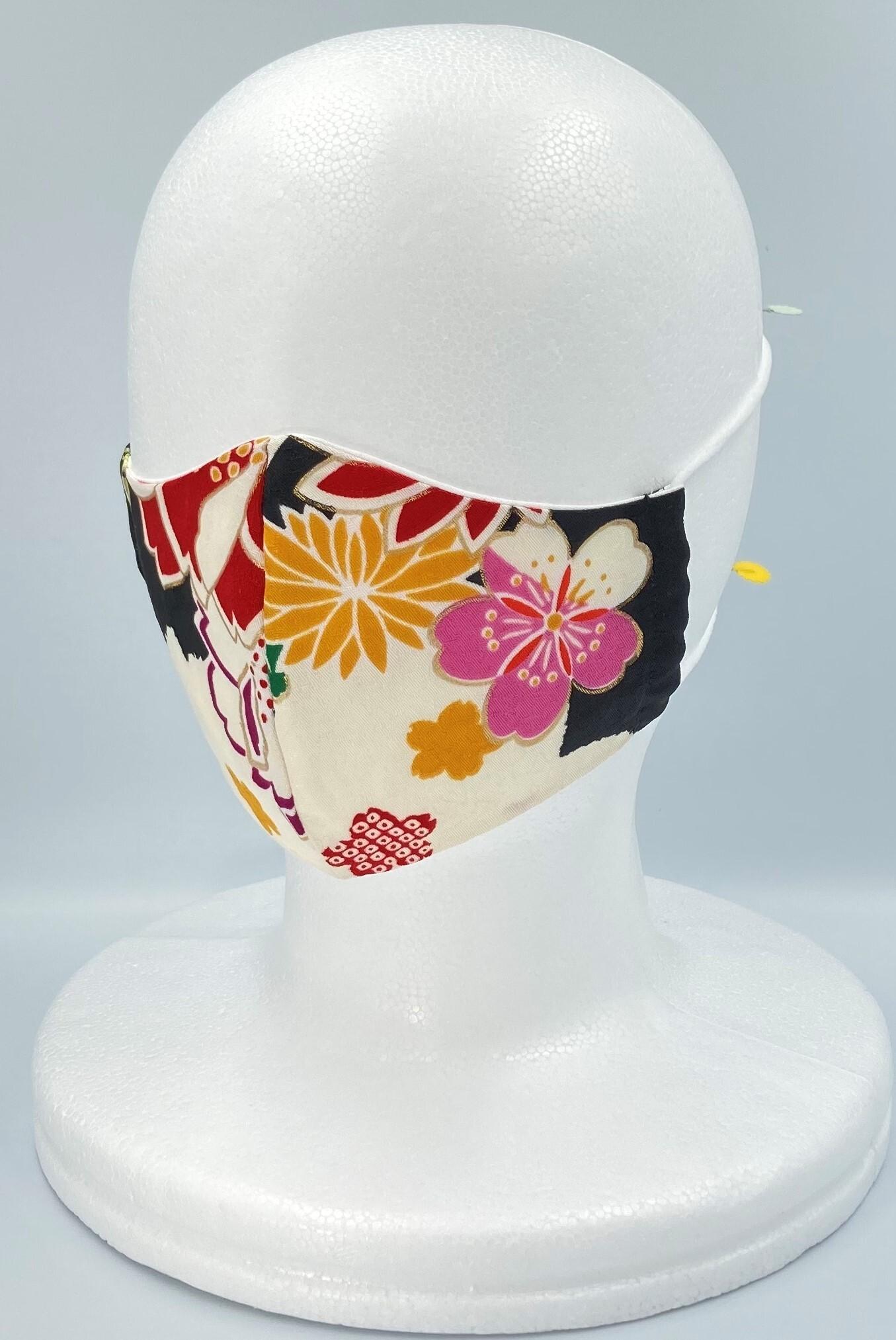 リメイク着物マスク A016