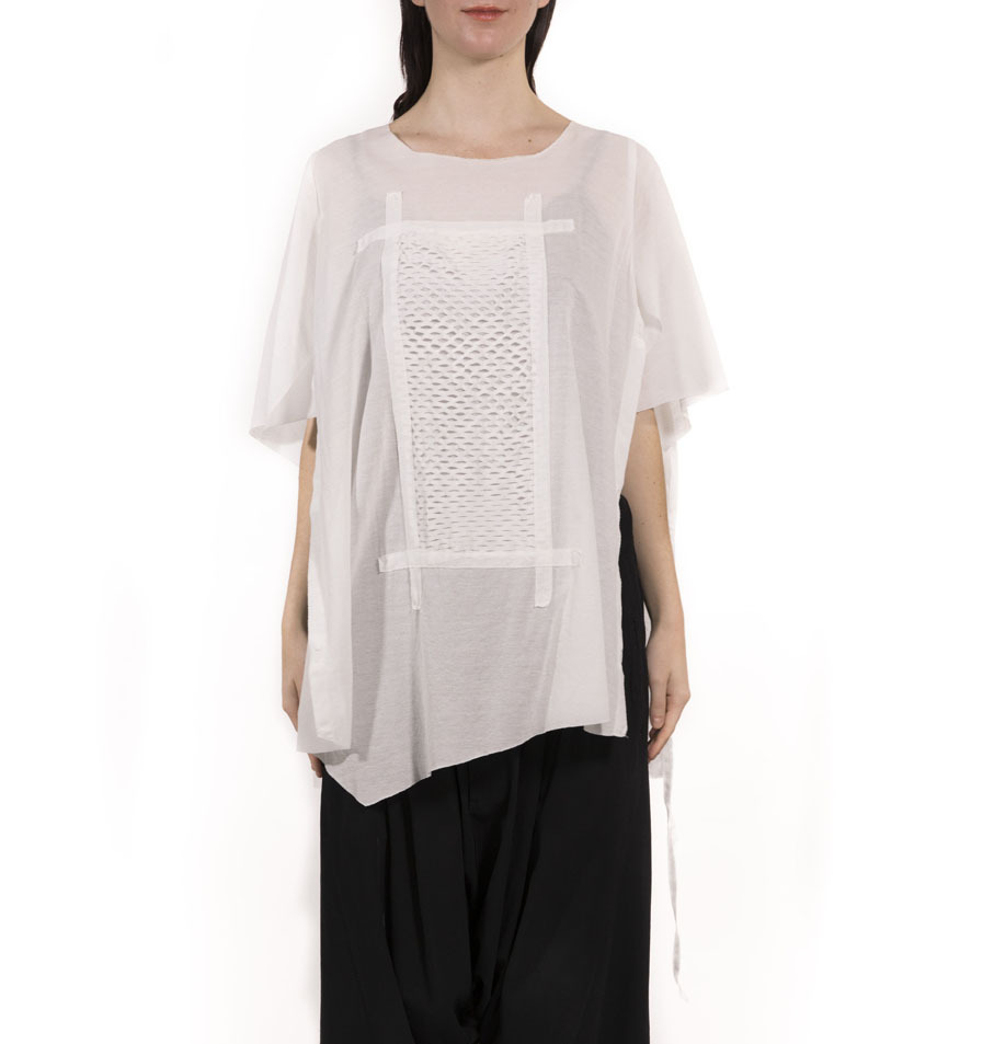 [受注生産]T SHIRT/STOLE Tシャツストール WHITE[登録意匠]日本製[送料/税込]