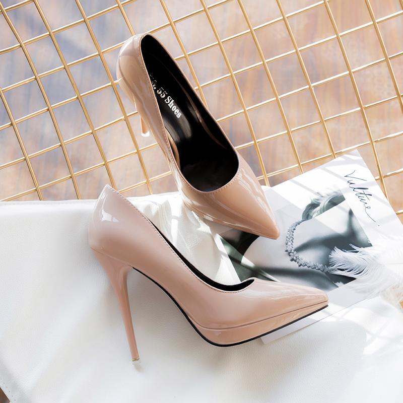【shoes】ファッション無地ハイヒールパンプス26562354