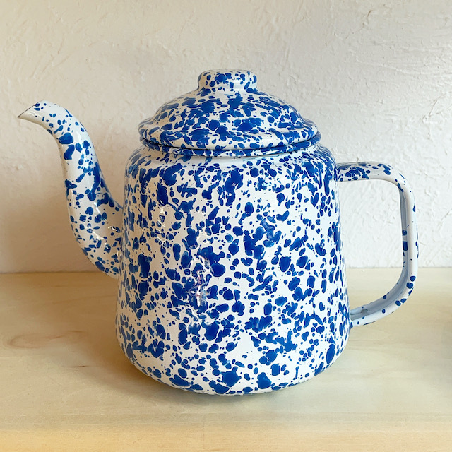"CROW CANYON HOME ""TEA POT"" BLUE 1.5L"