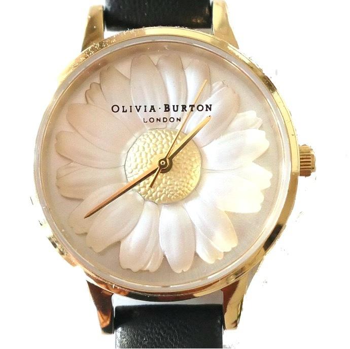 y[k05]OLIVIA BURTON 腕時計/OB15EG38ブラック×ゴールド