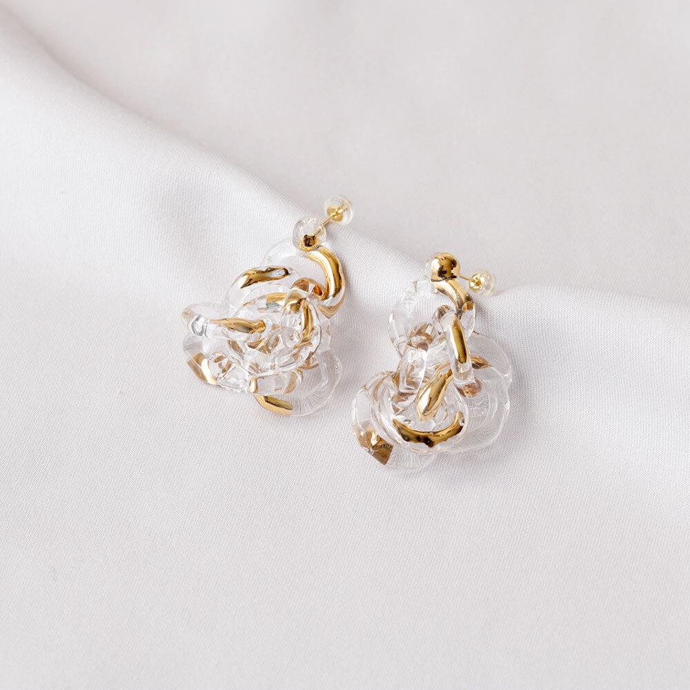 surge ring pierce gold (pair)