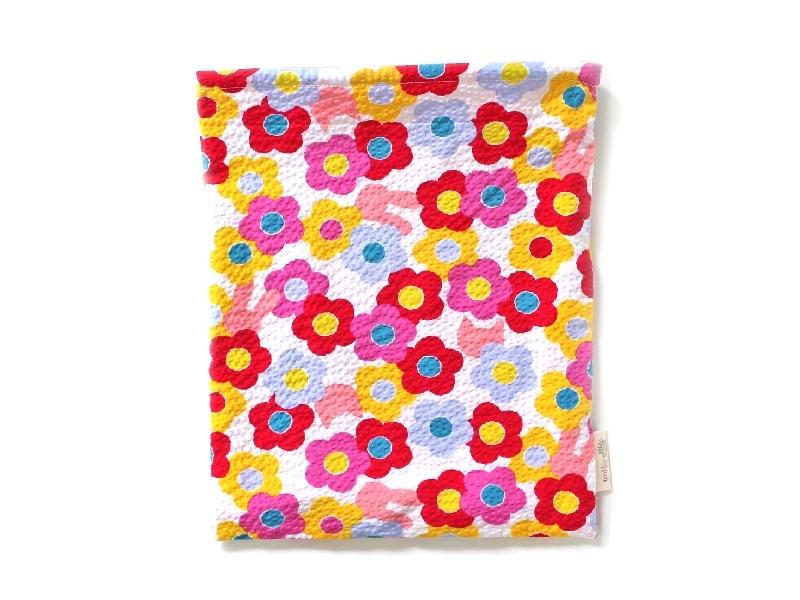ハリネズミ用寝袋 L(夏用) 綿リップル×スムースニット カラフルフラワー