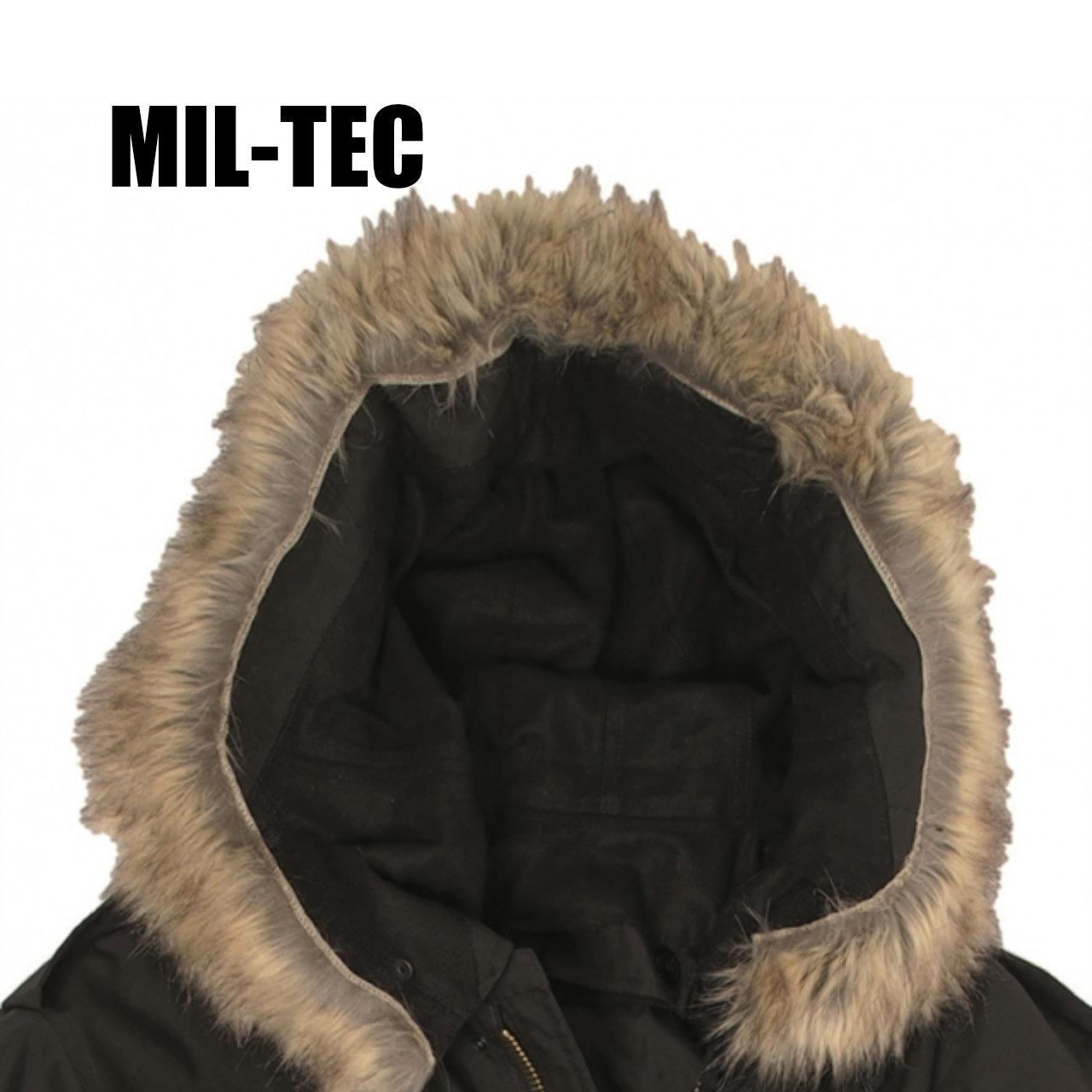【MIL-TEC M-51】 フィールドパーカ ファーフード 〈Black〉