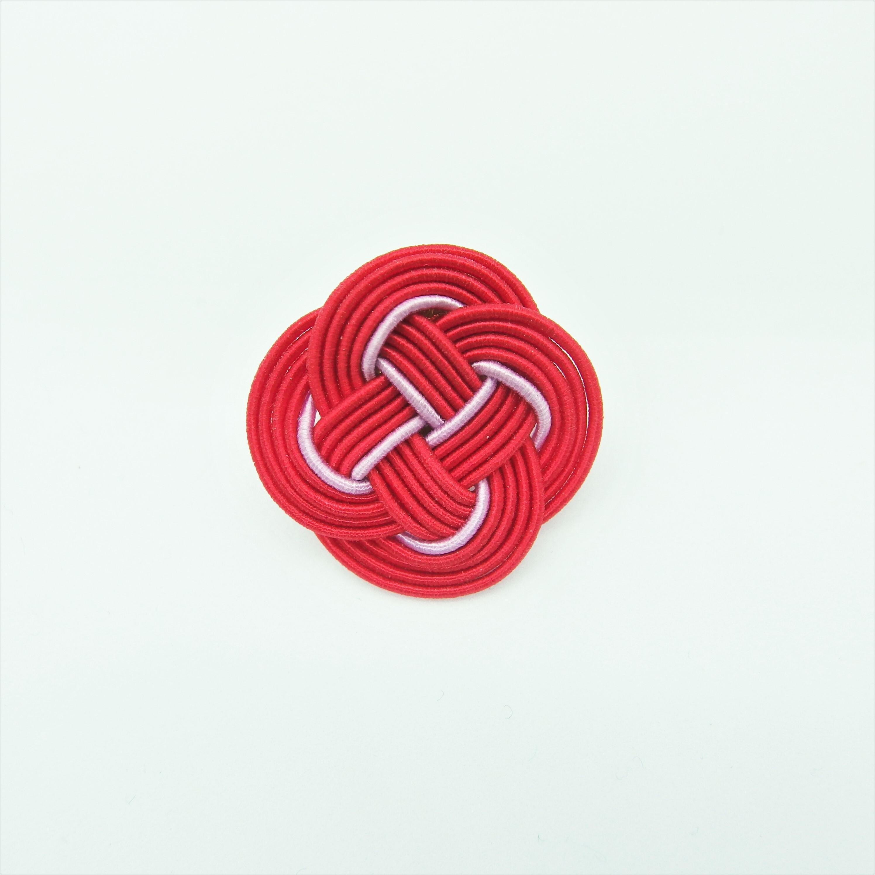 ひとひらピアス〈片耳〉 *赤×淡藤