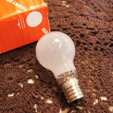 白熱電球 E17 60W クリプトン球フロスト