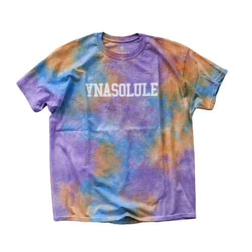ANASOLULE/College Logo Tie Dye Tee【 Col. Dynamo 】