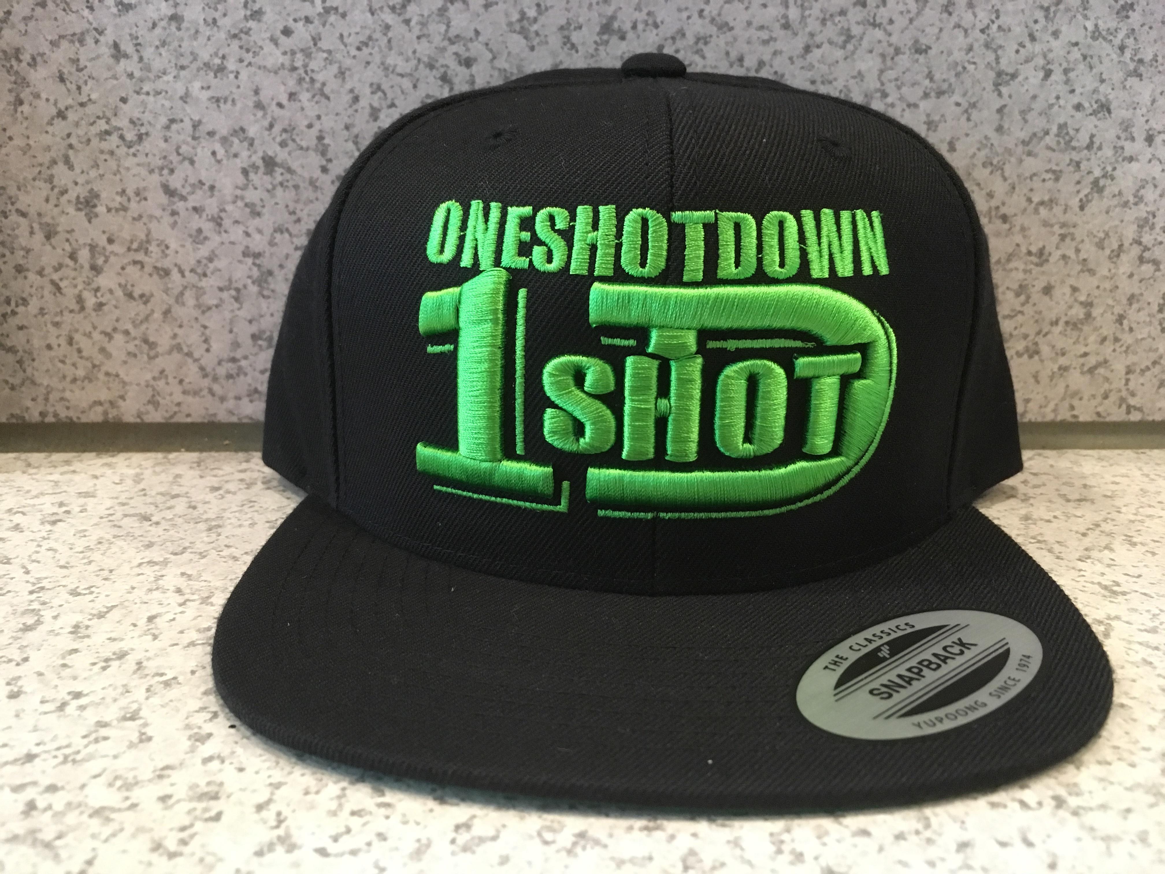ONESHOTDOWNロゴ3D刺繍CAP - 画像3