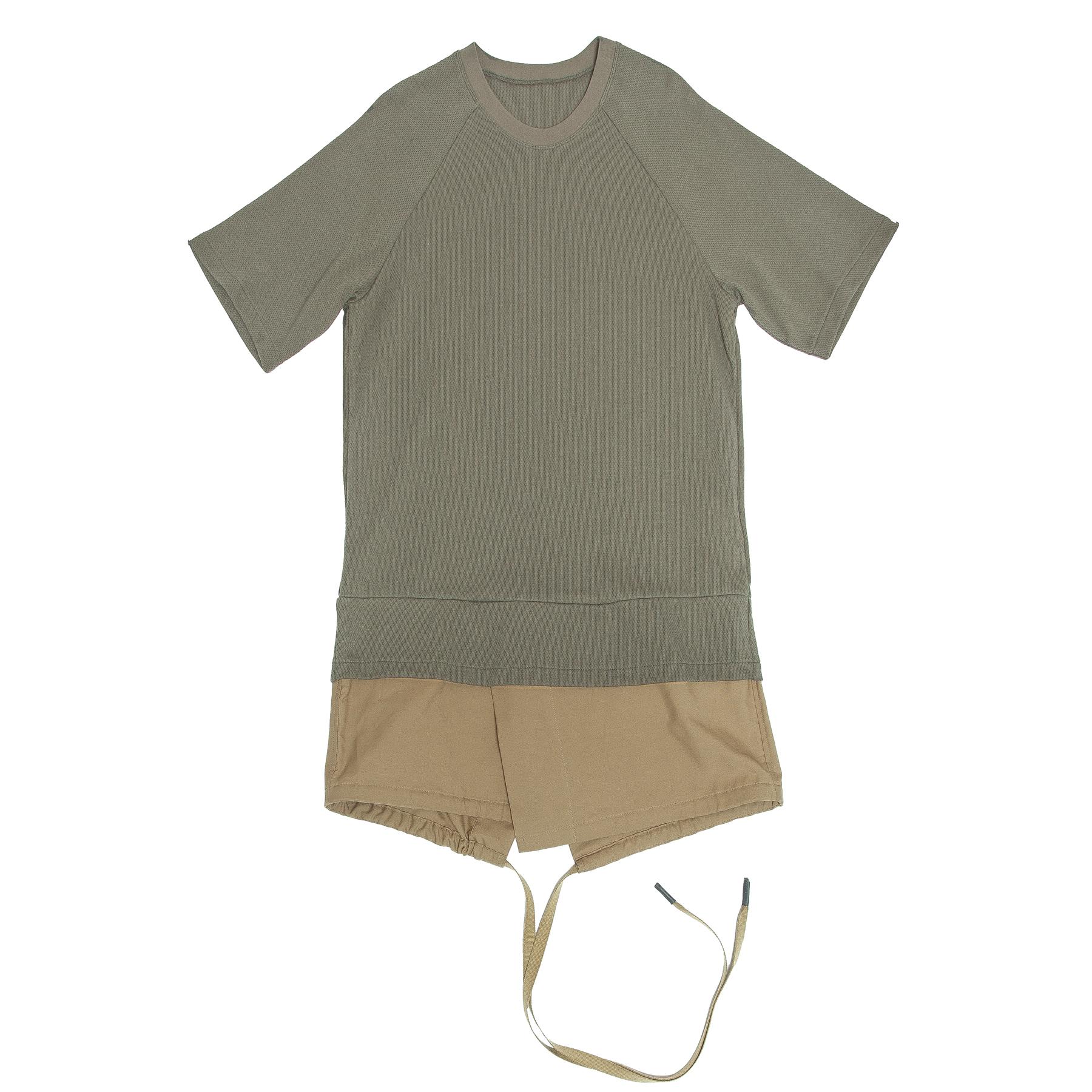 617CUM19-ARMY GREEN / レイヤードパーツT-シャツ