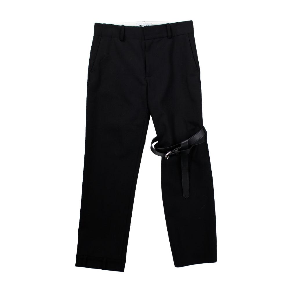 MONSE Leather Belt Bondage Pants