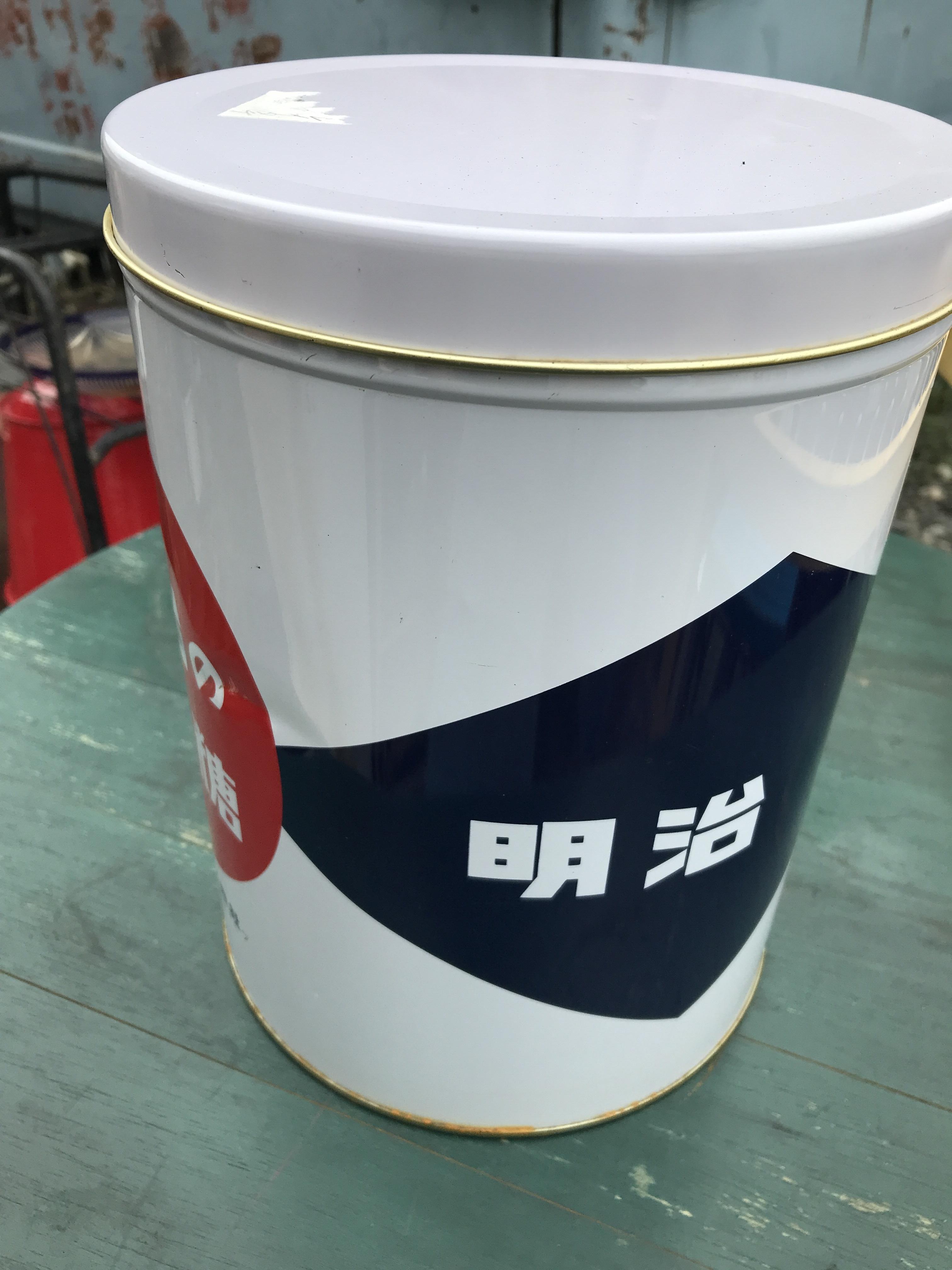 レトロ 明治の缶