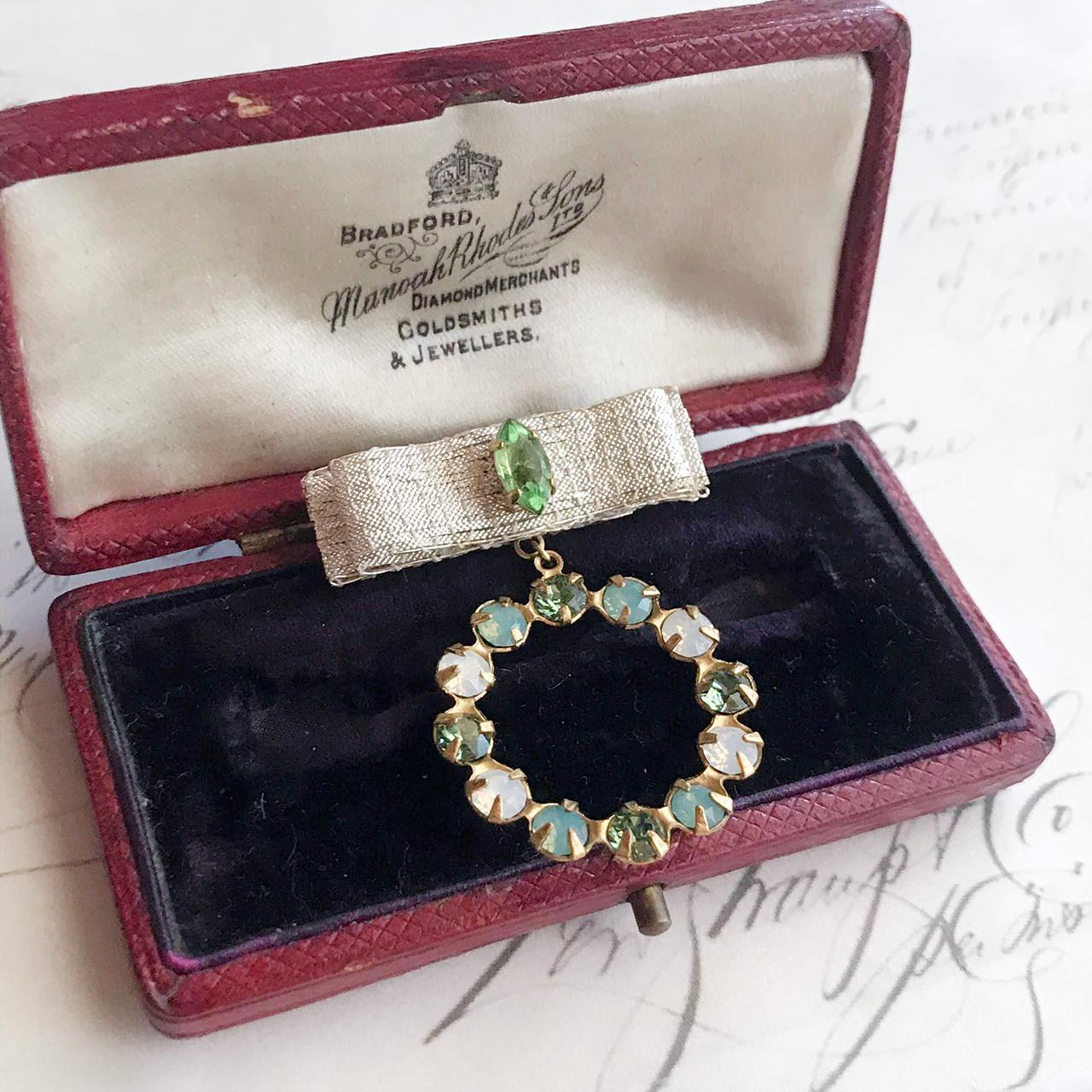 アポロンの祝福 / ブローチ(mini green)