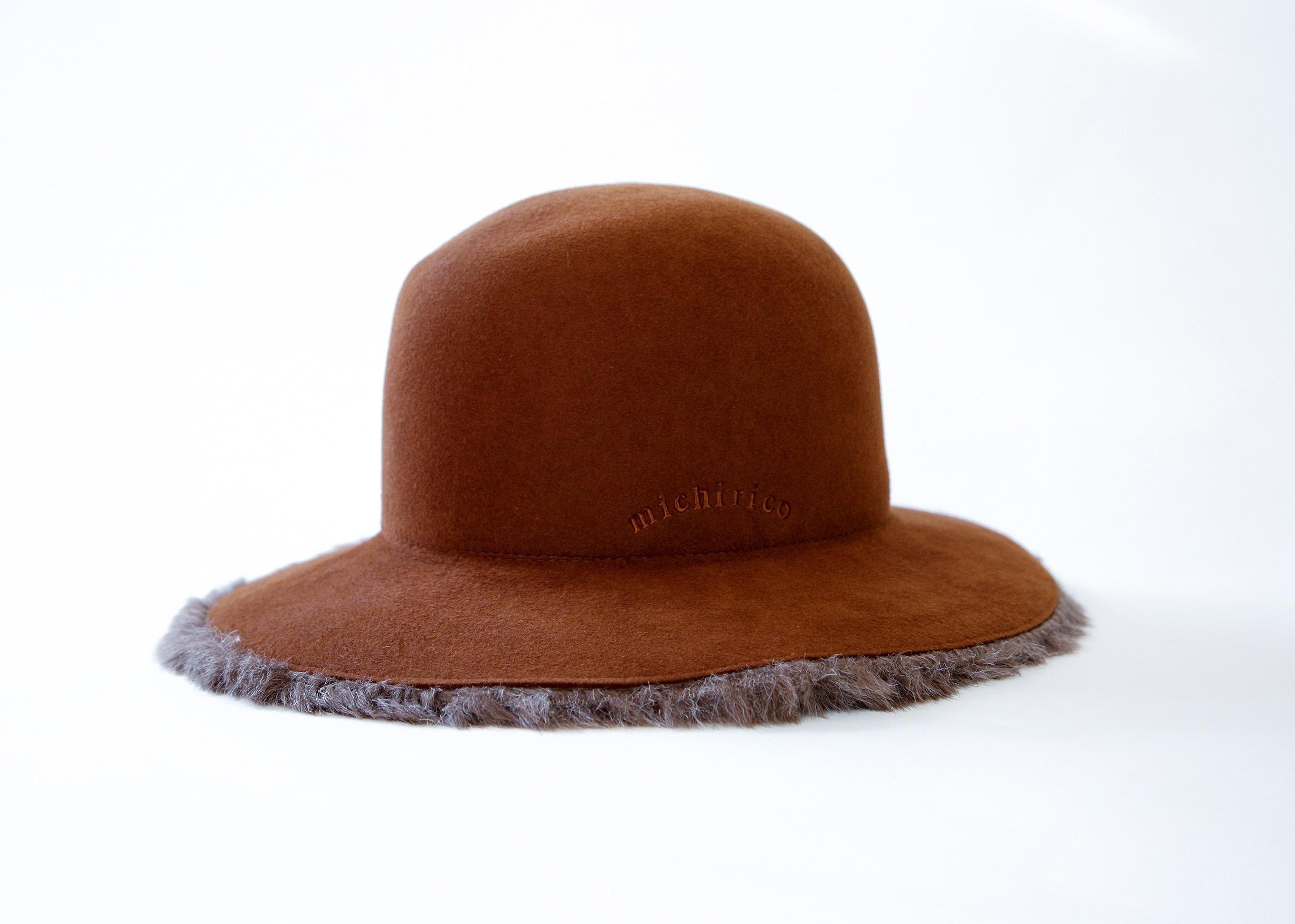 《michirico 2020AW》Antelope hat / camel / F(womens)