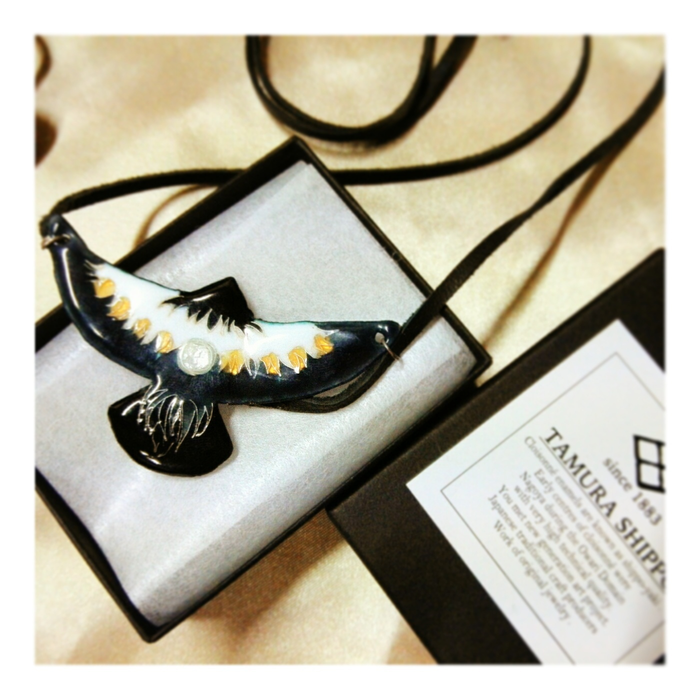 七宝イーグルネックレス  - Cloisonne Eagle necklace -