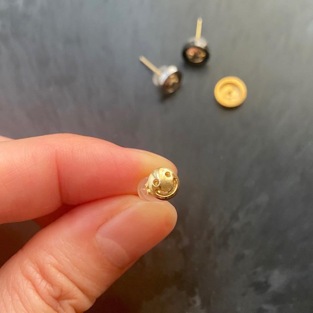 K18 Nikkori Stud Earring  / K18 ニッコリ・スタッドピアス(片耳用)