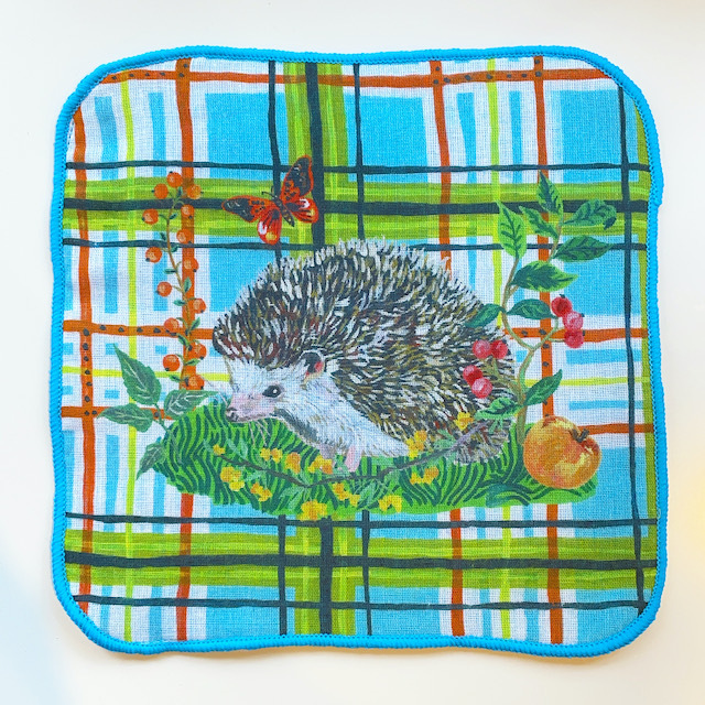 "Nathalie Lete ""Gauze Hand Towel"" Hedgehog"