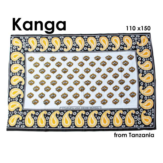 タンザニアのカンガ布