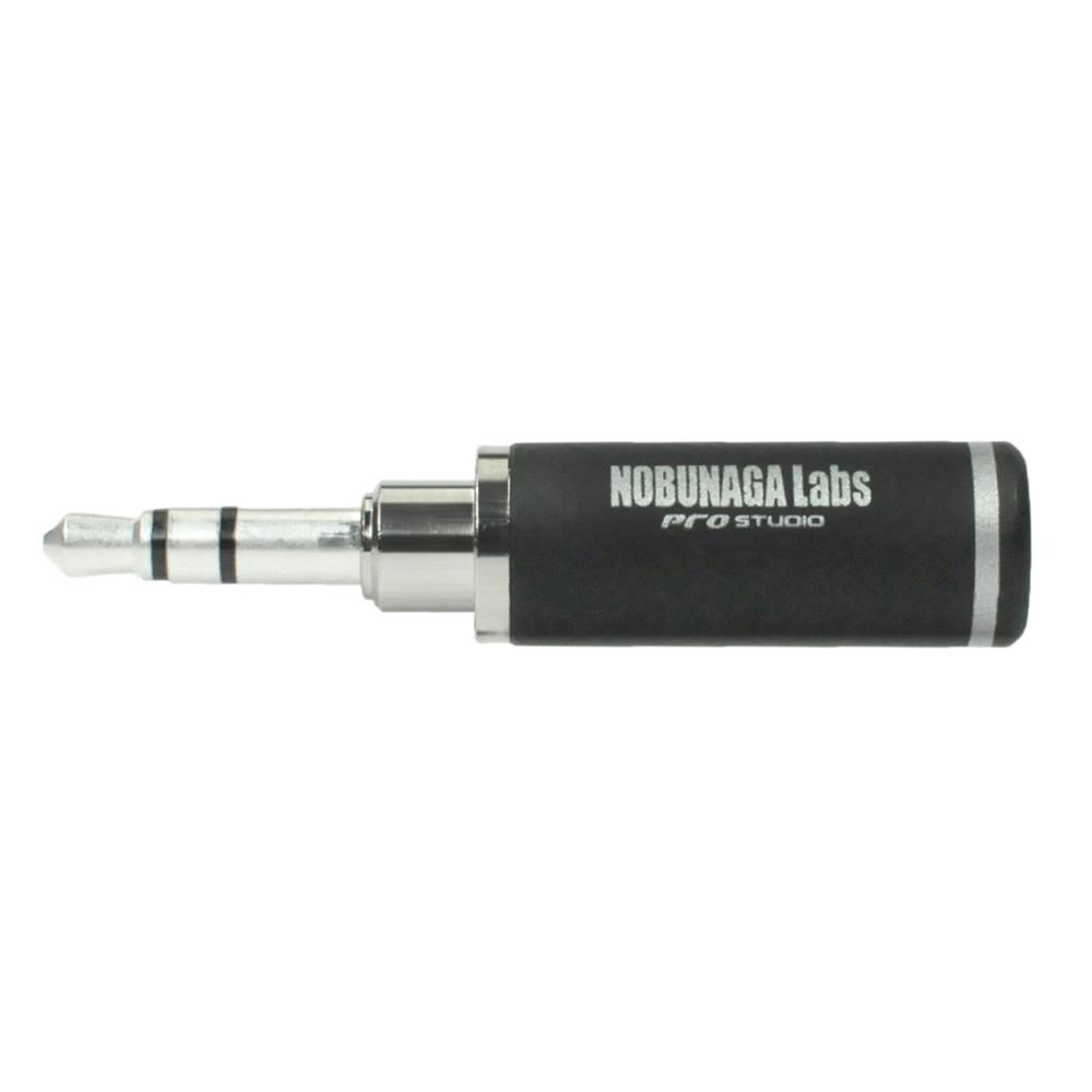 【まとめ買い 5セット 10%割引】3.5mm3極ステレオミニプラグ シルバーメッキ NLP-PRO-TP3.5-S  ::  NOBUNAGA Labs pro studio