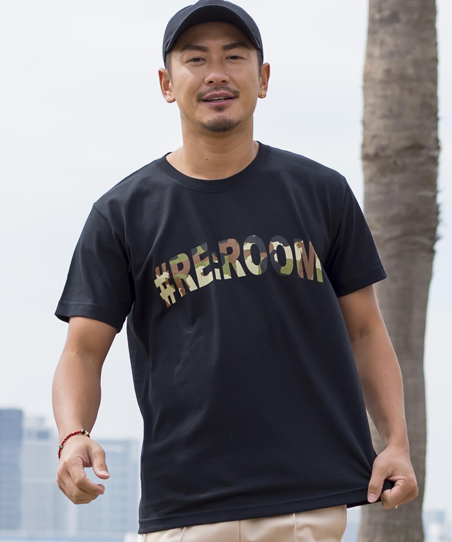 TIGER CAMO COLLEGE LOGO PRINT T-shirt[REC173]