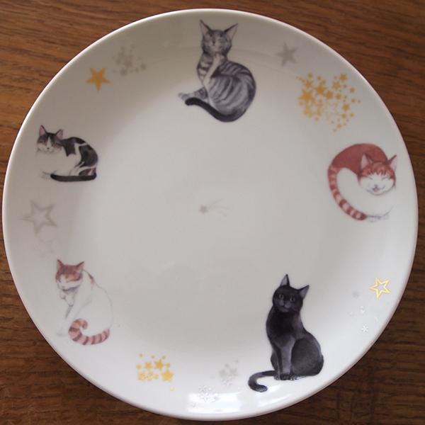 ★チャリティー 猫のお皿 特大サイズ 24cm