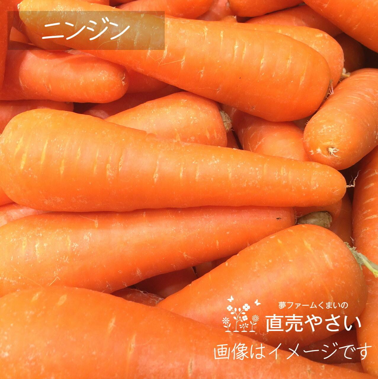 ニンジン 約3~4本 : 6月の朝採り直売野菜 春の新鮮野菜 6月20日発送予定