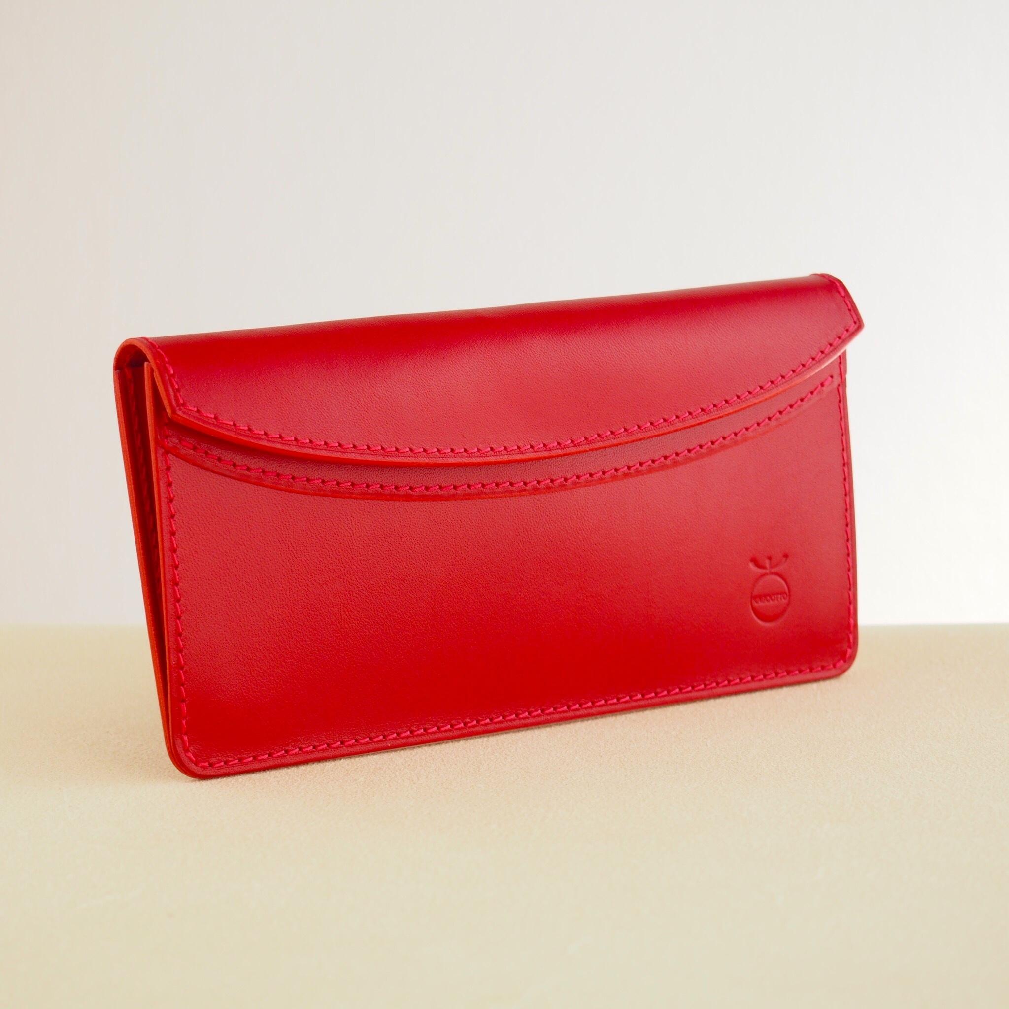 薄い軽い使いやすい! スリムな財布#レッド