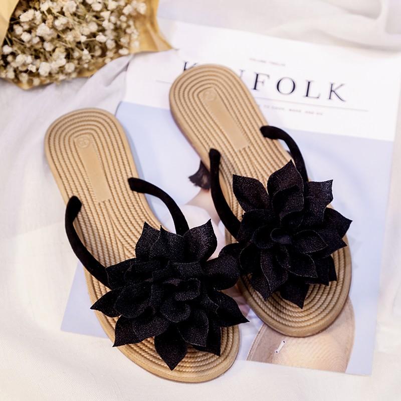 【shoes】ファッション花飾り切り替えサンダル22121823