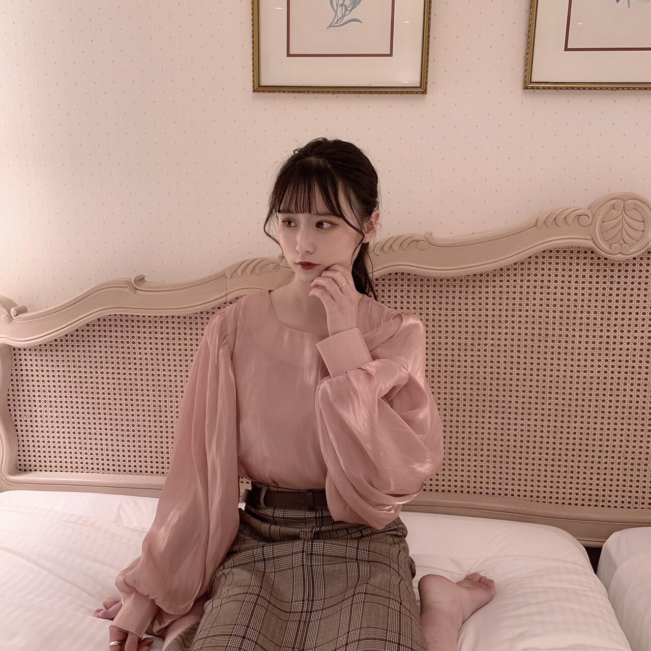 【meltie】shimmer puff blouse