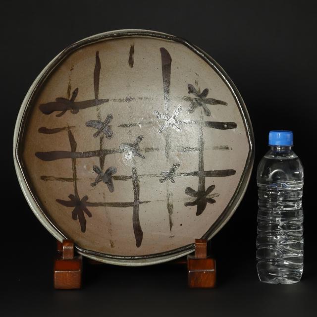 西岡小十 作 絵唐津平鉢